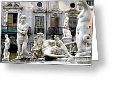 Palermo Fountain Greeting Card