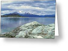 Panoramic View Of Ushuaia, Tierra Del Greeting Card