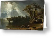 Passing Storm Over The Sierra Nevadas Greeting Card