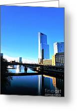 Philly Over The Schuylkill Greeting Card