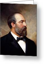 President James Garfield Painting Greeting Card