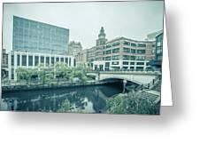 Providence Ri City Skyline Autumn Season Greeting Card