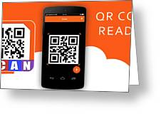Qr Code Reader Greeting Card
