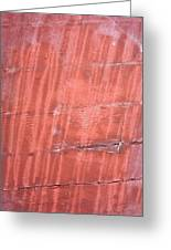 Red Metal  Greeting Card