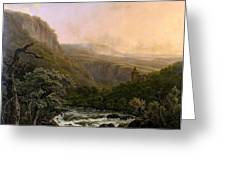 River In The Ardennes At Sunset Greeting Card