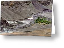 Rocky Landscape Of Leh City Ladakh Jammu And Kashmir India Greeting Card
