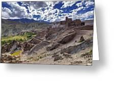 Ruins At Basgo Monastery Leh Ladakh Jammu And Kashmir India Greeting Card