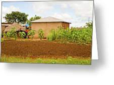 Rural Landscape In Tanzania Greeting Card