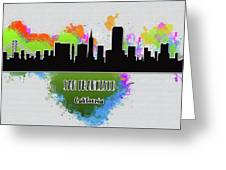 San Francisco Skyline Silhouette Greeting Card