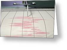 Seismograph Earthquake Activity Greeting Card