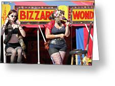 Sideshow Performer Greeting Card