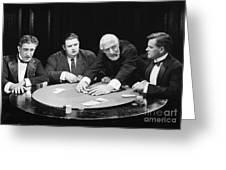 Silent Film Still: Gambling Greeting Card