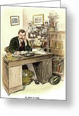 Sir Arthur Conan Doyle Greeting Card