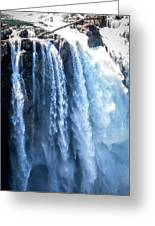 Snoqualmie Falls Washington State Nature In Daylight Greeting Card