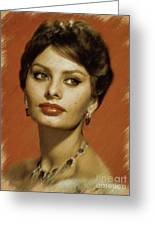 Sophia Loren, Vintage Actress Greeting Card