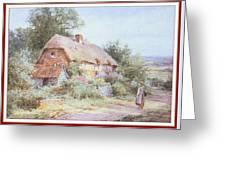 Stannardhenryjohnsylvester Girllookingatacottage-we F018 Henry  Sylvester Stannard Greeting Card