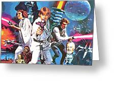 Star Wars A Poster Greeting Card