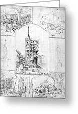 Statue Of Liberty, Paris Greeting Card