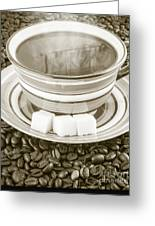 Steaming Coffee  Greeting Card