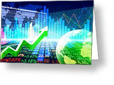 Stock Market Concept Greeting Card