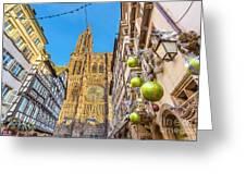Strasbourg,christmas Market, Alsace France  Greeting Card