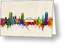 Sunderland England Skyline Greeting Card