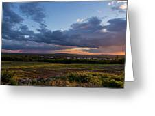 Sunset Down East Maine Greeting Card