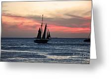 Sunset Key West  Greeting Card