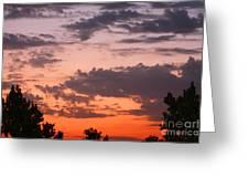 Sunset Moreno Valley Ca Greeting Card