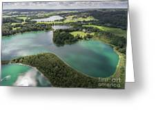 Suwalki Landscape Park, Poland. Summer Time. View From Above. Greeting Card