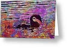 Swan Young Animal Bird Waters  Greeting Card