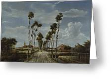 The Avenue At Middelharnis Greeting Card