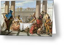 The Banquet Of Cleopatra Greeting Card