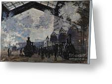The Gare St Lazare Greeting Card