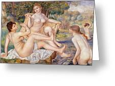The Large Bathers Greeting Card
