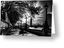 The River Thames Path Greeting Card