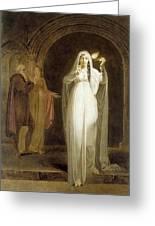 The Sleepwalking Scene Act V Scene I From Macbeth Henry Pierce Bone Greeting Card