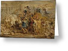 The Triumph Of Henry Iv Greeting Card