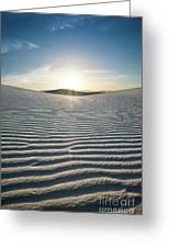 The Unique And Beautiful White Sands National Monument In New Mexico. Greeting Card