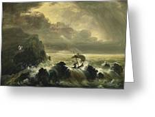 The Voyage Of Life - Manhood Greeting Card