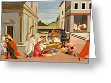 Three Miracles Of Saint Zenobius Greeting Card