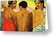 Three Tahitians Greeting Card