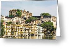 Udaipur City Palace In Rajasthan Greeting Card