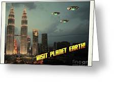 Ufo Postcards Home By Raphael Terra Greeting Card