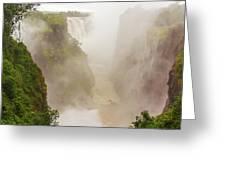 Victoria Falls In Zambia Greeting Card