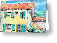View Of Luberon Greeting Card
