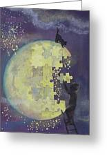 Walk To The Moon Greeting Card