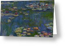 Water Lilies 1916 Greeting Card