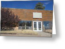 Western Storefront Greeting Card