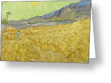 Wheatfield With A Reaper Greeting Card